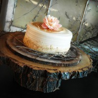 13 inch  Large Rustic Wood Cake Stand by RoxyHeartVintage on Etsy