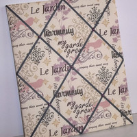 Le Jardin fabric - French Memory Board