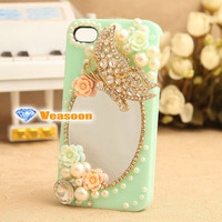 Mirror iPhone 4 case 3D iphone case Mirror case Iphone4 case iphone4s case cell phone cases pearl phone case holiday gift