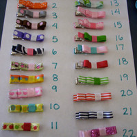 Pick 5 Hair Clips many to choose from by PreciousBowtique on Etsy