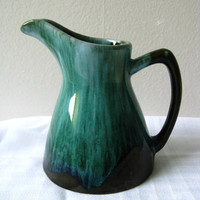 Blue Mountain Pottery Pitcher Green Glaze Jug Early by pillowsophi