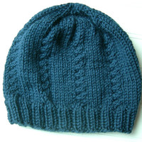 Knit Hat Admiral Blue by WindyCityKnits on Etsy