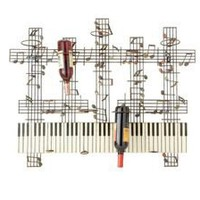 Wall Mount Wine Bottle Rack Holder Iron Music Piano