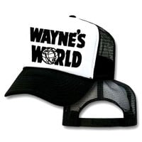 Wayne&#x27;s World Mesh Trucker Hat Cap Halloween