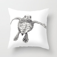 Chelonioidea Throw Pillow by Beth Thompson | Society6