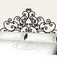 Wall Decor Decal Sticker Removable Vinyl headboard by qinqindecal