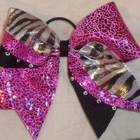 Cheer/cheerleading hair bow ribbon custom bows Texas Bows Rhinestones