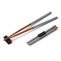COMPACT CHOPSTICKS | These reusable, sustainable and portable chopsticks are made of bamboo and stainless steel for a chic alternative to wasteful, disposable utensils. | UncommonGoods