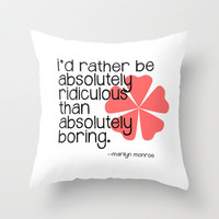 MARILYN Throw Pillow by Danielle Marie | Society6