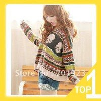 SUPER Q Fashion Korean Style V-NECK SWEATER JUMPER MULTI-COLOR Y2444