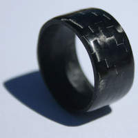 Pure Carbon Fiber Ring (Horizontal Pattern)