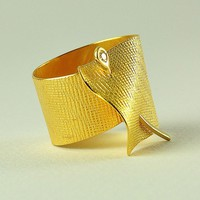 22K Solid Gold Ring with Diamond, Handcrafted, N0. 44- 6