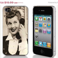 HOLIDAY SALE iPhone 4 or 4s Hard Case Phone Cover - Lucille Ball (I Love Lucy)