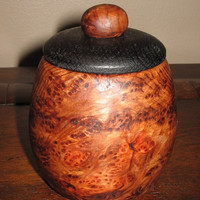 Redwood Burl Box with Ebonized Oak Lid