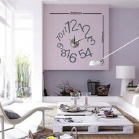 Hot Home Decoration DIY Wall Decal Sticker Clock - 1To12-Free shopping! - Clocks - Home Decor  Accents - Home  Garden - TaTaMall Creative Goods