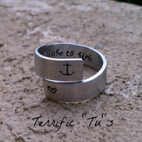 Personalized Hand Stamped Wrap Ring