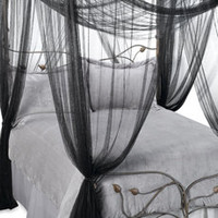 Mombasa Majesty Black Bed Canopy