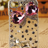 iPhone4 3GS Crystals Butterfly Flexible Gift Cover - GULLEITRUSTMART.COM