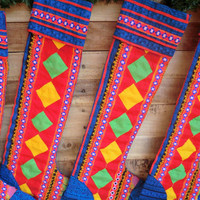 Hmong Applique Christmas Stockings