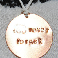 Elephants Never Forget Necklace