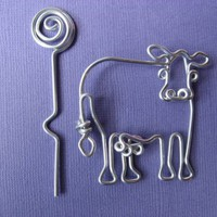 COW SHAWL PIN by chatnoir77 on Etsy