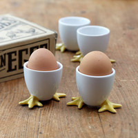 Egg Cup with Chicken Feet | Serving | Stonewall Kitchen - Specialty Foods, Gifts, Gift Baskets, Kitchenware and Kitchen Accessories, Tableware, Home and Garden Décor and Accessories