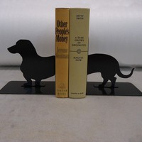 Wienerdog Bookends by KnobCreekMetalArts on Etsy