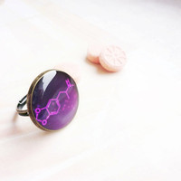 Ecstasy molecule purple ring