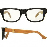 Black Bamboo Geek glasses