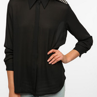 Sister Jane Studded Shoulder Blouse