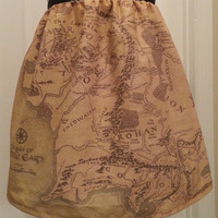 Lord of the Rings inspired skirt - map of Middle Earth - made to order