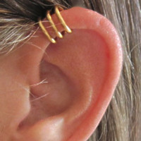 No Piercing Men&#x27;s or Unisex &quot;Circles&quot; Ear Cuff for Upper Ear 1 Cuff
