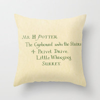 Mr. Harry James Potter Throw Pillow by Ashleigh | Society6