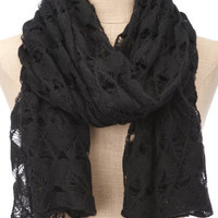 Charlotte Russe - Diamond Pointelle Scarf
