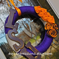 LSU Wreath/ Purple and Gold/ Custom Team Order