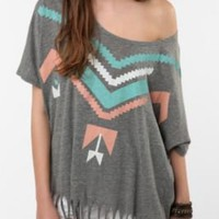 UrbanOutfitters.com > Title Unknown P.E. Oversized Fringe Tee