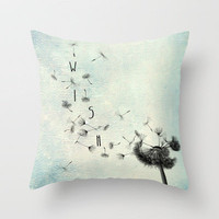 Wish Throw Pillow by Ally Coxon | Society6