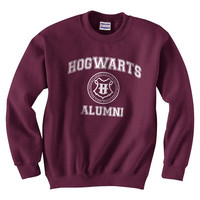 Hogwarts Alumni Unisex Sweatshirt Color Maroon