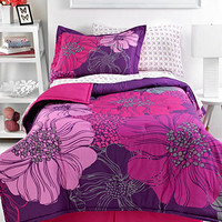 Floral Blossom Pink 4 Piece Comforter Sets - Dorm Bedding - Bed & Bath - Macy's