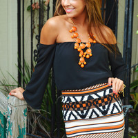 RESTOCK Make Me Part Of The Tribe Skirt: Orange | Hope's