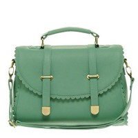 Scallop Detail Satchel Bag