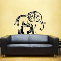 Elephant tribal vinyl Wall DECAL Africa India design home decor