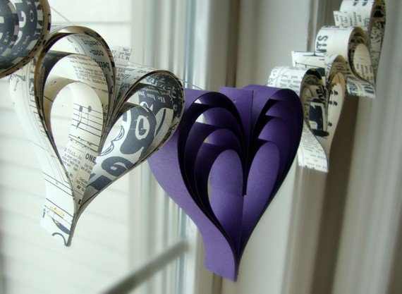 Eggplant love paperie a garland of hand cut by PaperPolaroid