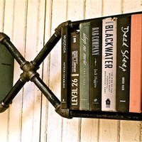 Industrial Pipe Bookshelf Mr X by stellableudesigns on Etsy
