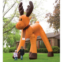 The Two Story Inflatable Reindeer - Hammacher Schlemmer