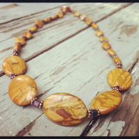 Picture jasper beaded necklace
