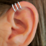 No Piercing Men&#x27;s or Unisex Ear Cuff &amp;quot;Circles&amp;quot; Handmade 1 Cuff Color Choices