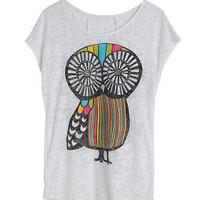 Owl Burnout Tee