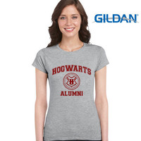 Hogwarts Alumni Women T-Shirt Color Sport Grey GILDAN