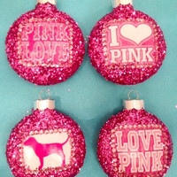 Victoria&#x27;s Secret PINK Ornament Set